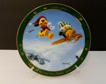 "Garfield Cat Collector Plates Dear Diary Series Danbury Mint ""Nine Lives""  D5509"
