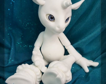 Magic the Unicorn- white resin - BLANK - ball joint doll / BJD