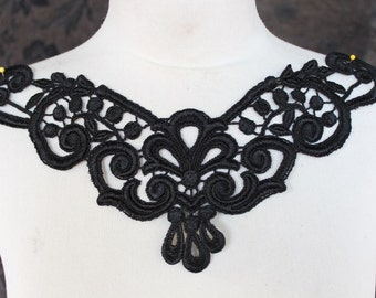 Cute   venice applique black color  1 pieces listing