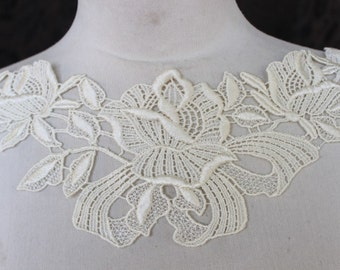 Cute venice applique ivory color   1 pieces listing