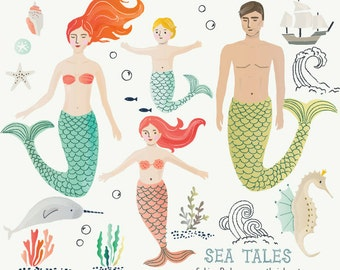 CLIP ART - Sea Tales - for commercial and personal use