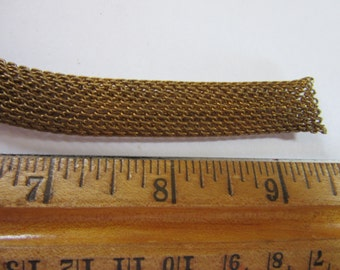 """5 1/2 feet of continuous 1/2"""" thick Mesh Chain, J#19, vintage 1950s, Jewelry  findings, brass chain,  brass findings"""
