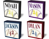 Baseball tabletop night light. Night ball for boy room. Baseball lamp, personalized