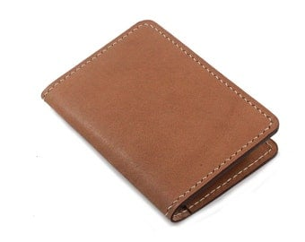 Hand-Stitched Leather cover for Extra Small Notebook in BBG CAMEL