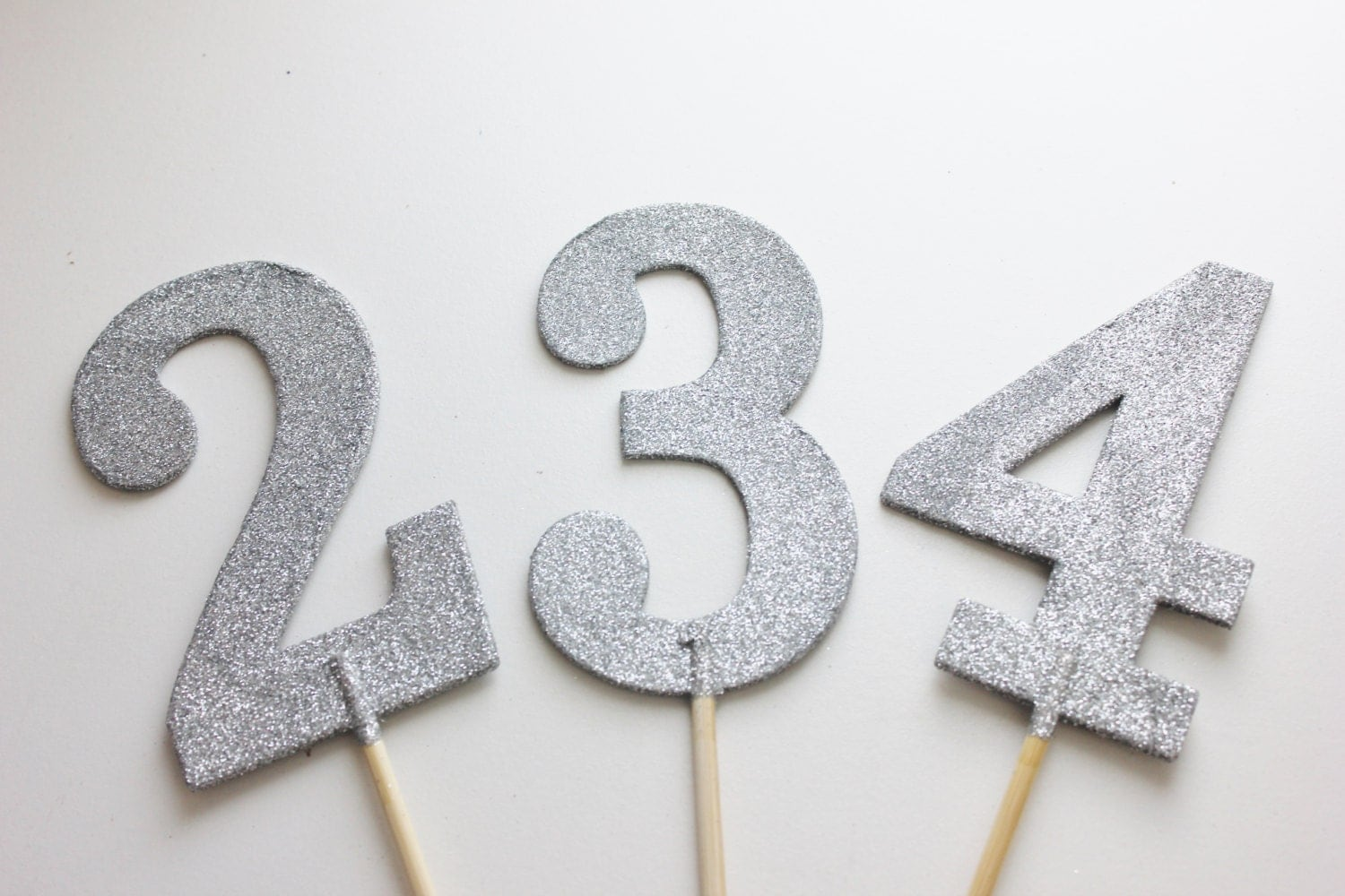 1 9 glitter table numbers numeric silver glitter wedding decor for Table numbers