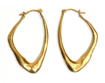 Gold Wing Shape Earrings