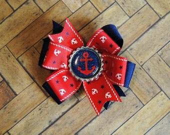 Nautical...Anchor...royal blue...red