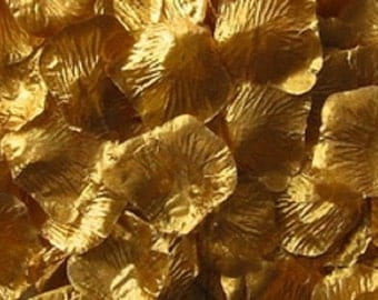 500 GOLD Silk Rose Petals Artificial Flowers Wedding Decoration Flower Girl Basket