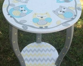 Desks Tables Round Nursery Table Bed Side Table End Table OWLS KIDS and Baby kids furniture