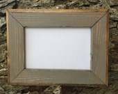 5x7 Picture Frame, Gray Rustic Weathered Style, Stained With Routed Edges