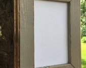 8 x 10 Picture Frame, Gray Rustic Weathered Style With Routed Edges