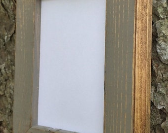 10 x 13 picture frame gray rustic weathered style with routed edges rustic home decor rustic wood frames home decor