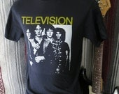 Television  t shirt screen print short sleeve  tee
