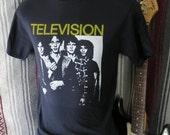Television  t shirt screen print short sleeve  tee