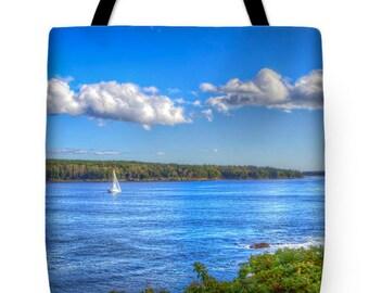 Maine Sailboat Tote Bag