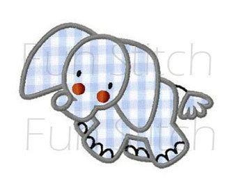 elephpant applique machine embroidery design