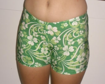 Shamrock spandex shorts