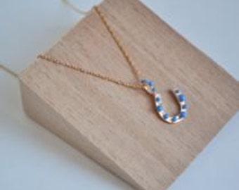 horseshoe necklace -free shipping