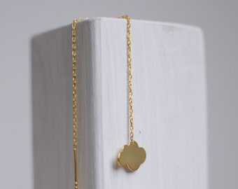 Cloud earring -gold plated and sterling silver-free shipping