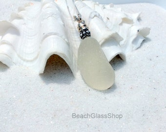 Sea Glass Jewelry - Sterling Sea Glass Necklace - Glass Beach Jewelry - Mermaid Tears Necklace - Sea Glass Jewelry