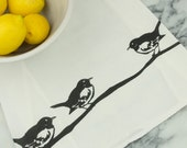Mockingbird Cotton Flour Sack Tea Towel