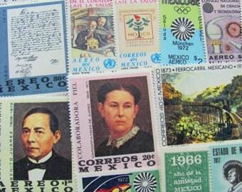 Mucho Gusto 50 Premium Vintage UNused Mexican Postage Stamps MNH Mexico Aereo Mexicanos Cinco de Mayo Latin America Lowrider Hispanic 2