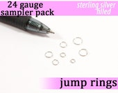 140 pcs 24g silver filled sampler pack assorted jump rings 24gsamp designer assortment jumprings silver filled jewelry findings