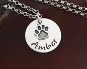 Dog Lover / Cat Lover Necklace - Sterling Silver