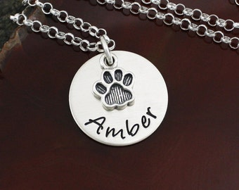 Dog Lover / Cat Lover Necklace - Sterling Silver