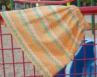 READY TO SHIP: Orange Wiggle Stripe Skirt, Size 7