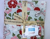 """ON SALE Remember Floral Charm Pack Riley Blake  Quilt Fabric  21 squares 5"""""""