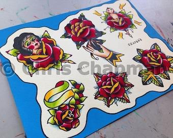 Roses Tattoo Flash