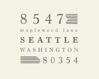 Custom Address Stamp Design