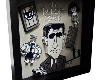 Twilight Zone Episodes Art Rod Serling Movies Art Sci Fi 3D Art Pop Artwork 1950s Television