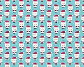 Santa Express Santa Clause Blue by Doodlebug Designs for Riley Blake, 1/2 yard