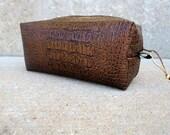 Faux Crocodile Vinyl Toiletry Case, Unisex Toiletry Bag, Mens Shaving Bag, Womens Cosmetic Case