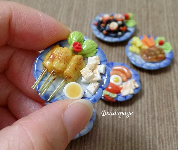 Dollhouse miniature food dinner breakfast lunch meal by - Sylvanian families cuisine ...