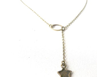 Moon and star necklace ( escape, brass antiqued, old world, jules vernes ) 02