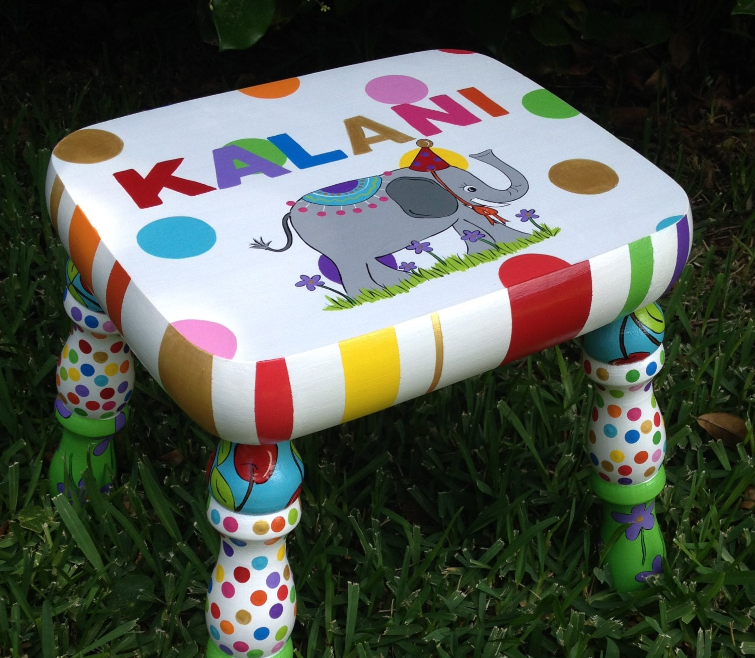 Personalized Kid s Stool Kid s Footstool Stool for