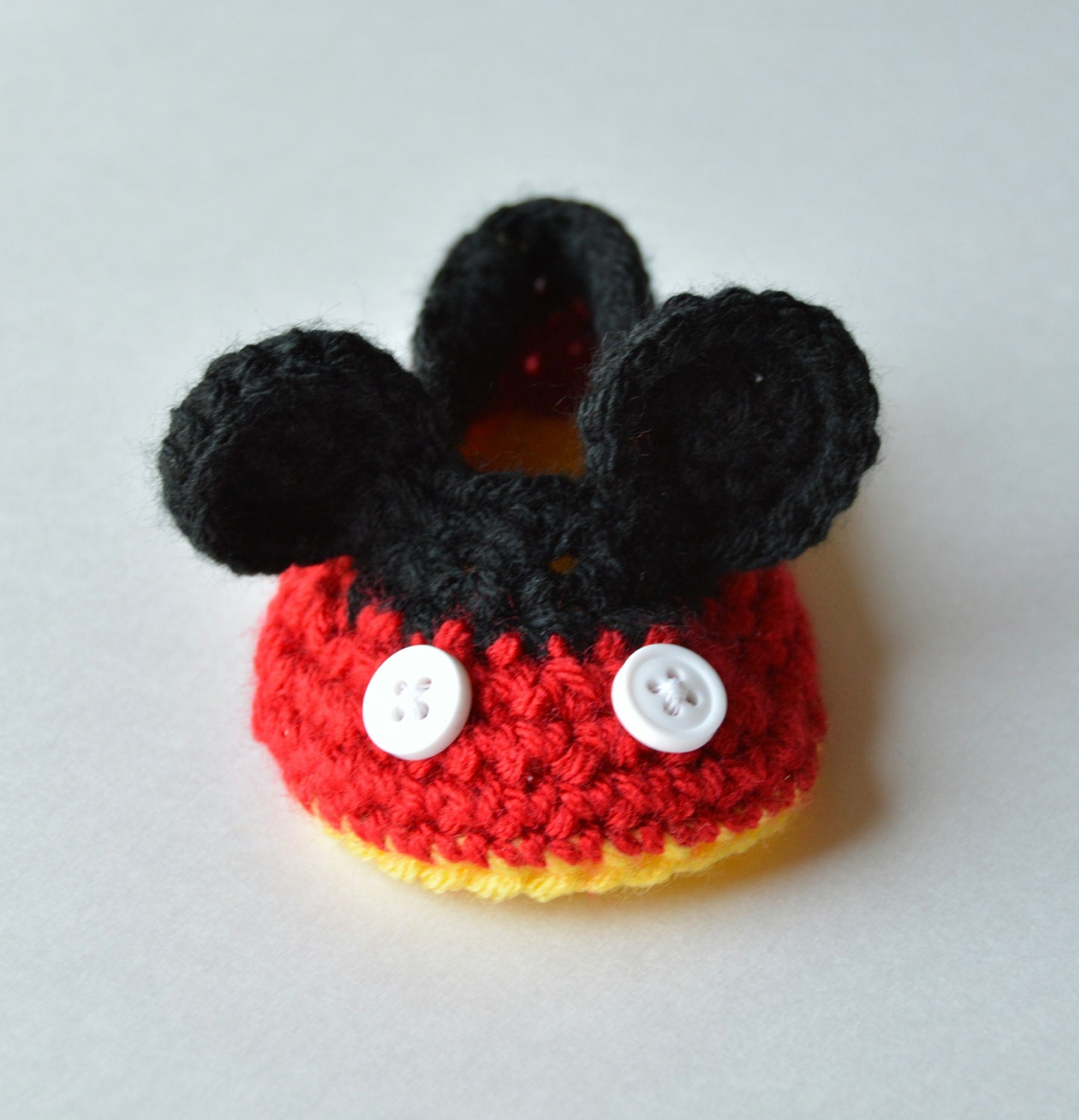 Free Crochet Patterns For Baby Mickey Mouse : Disney Mickey Mouse Baby Booties Crib Shoes Adorable New