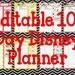Instant Download Editable Disney Planner, Agenda, Itinerary