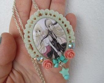 Chobits Necklace - CHII & FREYA- Fairy Kei, Pastel Goth, Decora