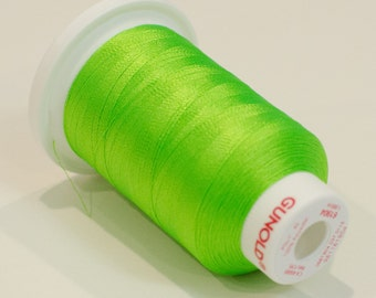 Polyester 40 Embroidery Thread | 61904 Neon Lime Green