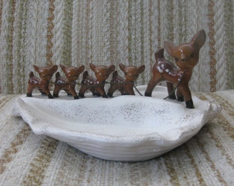 Giftcraft Deer with Fawns Ashtray