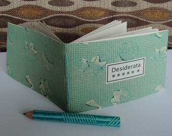DESIDERATA POEM - Stars Earthbound for the graduate - Daily meditations lovingly hand stitched and  hand bound