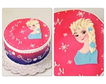 Frozen Birthday Cake, Frozen Party Cake