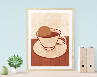 Funny Foodie Art, Funny Foodie Gift, Kitchen Print, Funny Art Print, Funny Illustration Print, Funny Kitchen Art, Cookie Art, Funny Wall Art