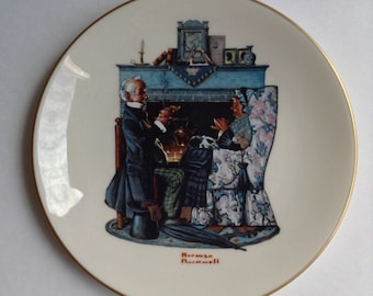 """Norman Rockwell's """"Tea For Two"""" Memorial Plate (Gotham Fine China 1978)"""