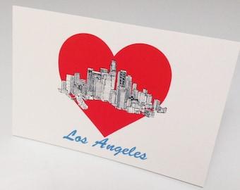 LA Heart Postcard
