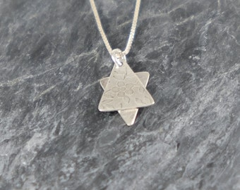 Star of David Necklace Bat Mitzvah Gift, Jewish Star Necklace, Sterling Silver Necklace, Judaica Jewelry, Silver Magen David Pendant